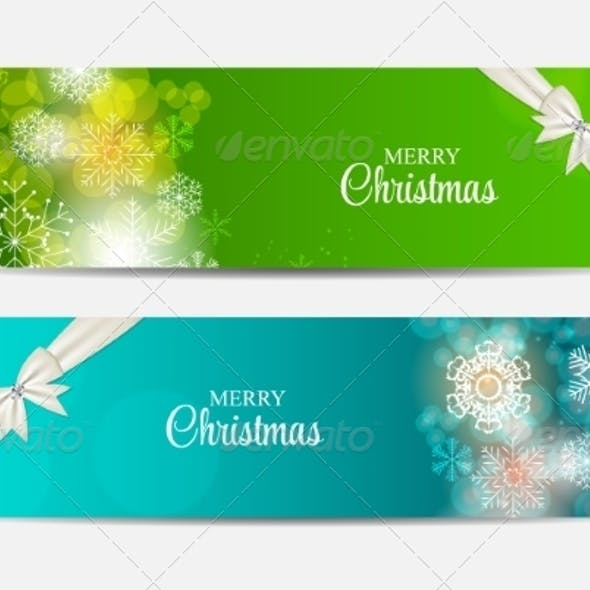 Christmas Snowflakes Website Header and Banner Set