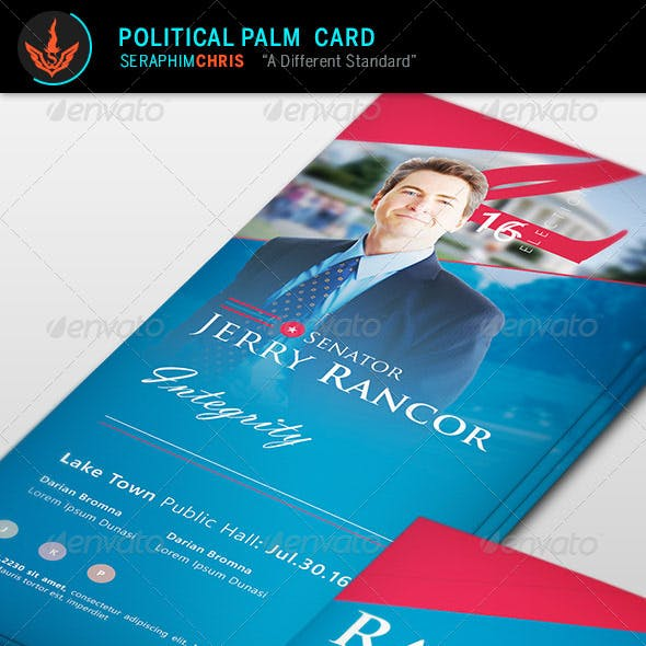 Political Election Palm Card Template
