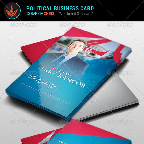 Political Election Business Card Template