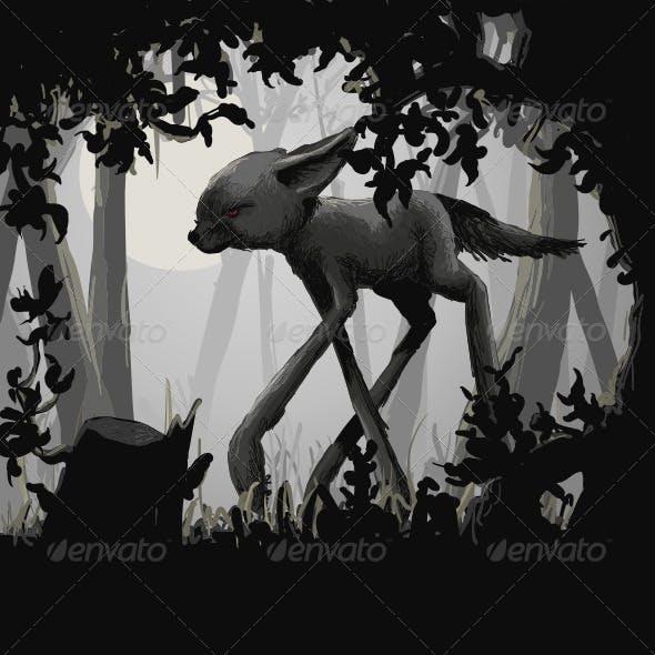 Werewolf Cub Illustration