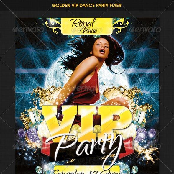 VIP Golden Dance Party Flyer