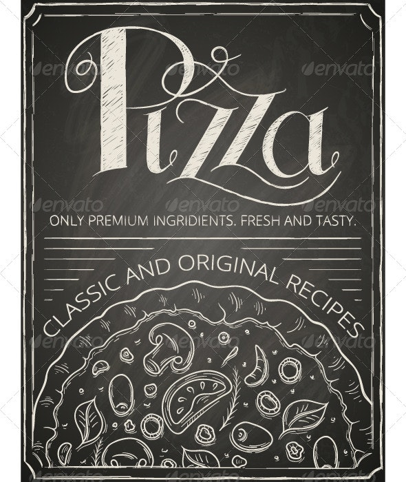 Pizza Poster - Food Objects