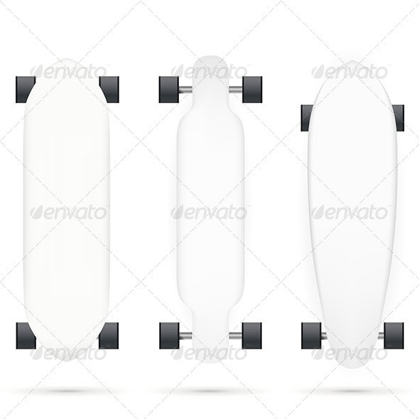 Vector Mock-up for Longboards - Sports/Activity Conceptual