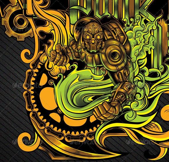 Steampunk Illustration - Miscellaneous Illustrations