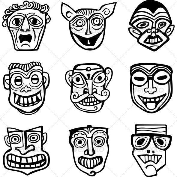 Masks - Man-made Objects Objects