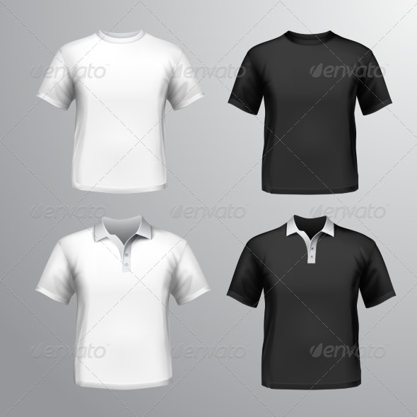 T-Shirts Male Set - Retail Commercial / Shopping