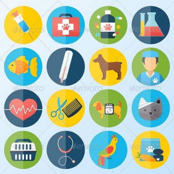 Veterinary Icons Set - Health/Medicine Conceptual