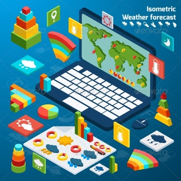 Weather Isometric Icons - Concepts Business