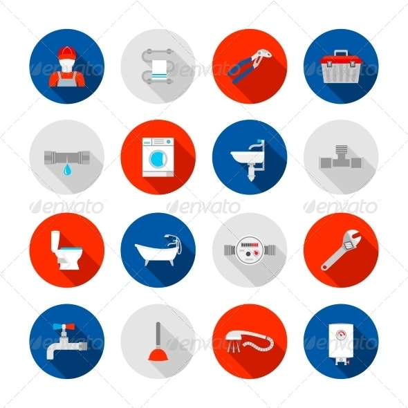 Plumbing Icons Set - Business Icons