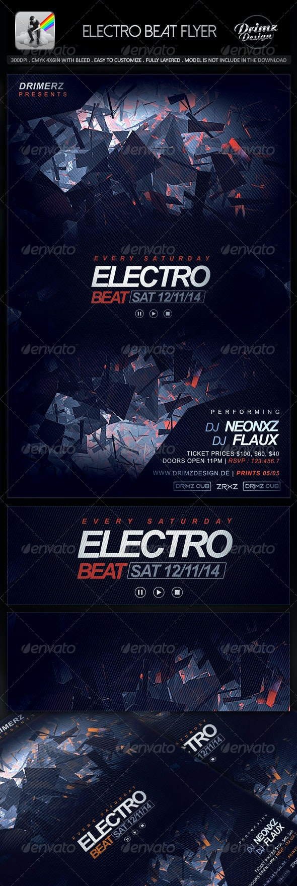 Electro Beat Flyer - Events Flyers
