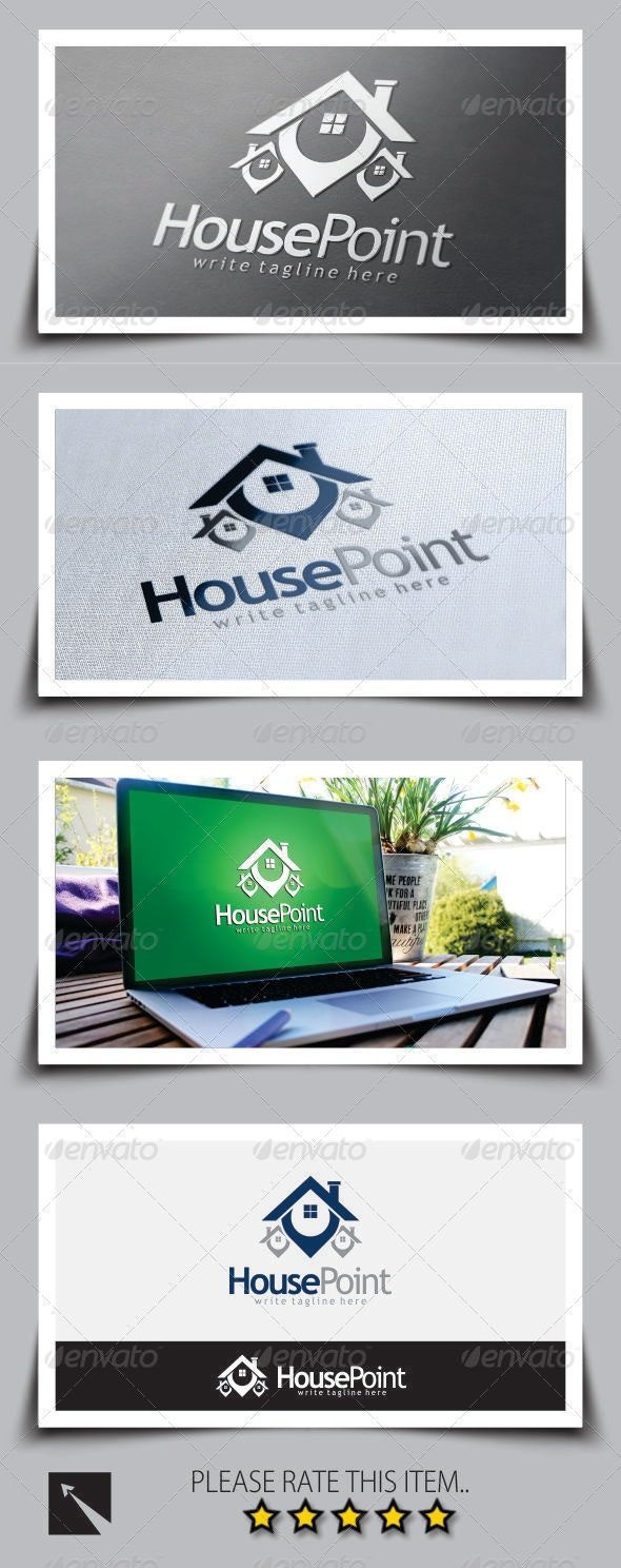 House Point (Real Estate) Logo Template - Buildings Logo Templates