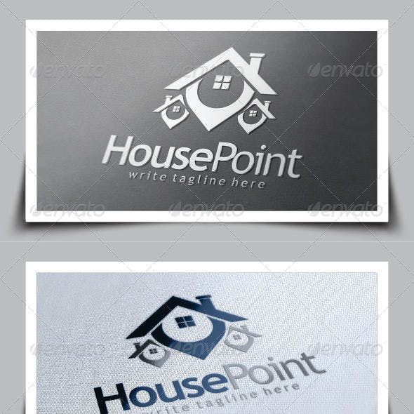 House Point (Real Estate) Logo Template