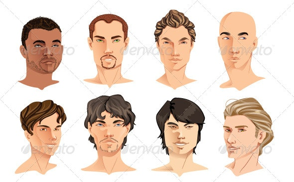 Male Portraits - People Characters