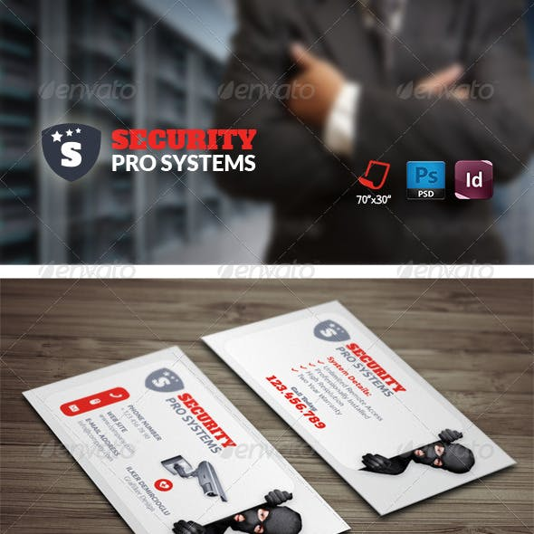 Security Systems Business Card Templates