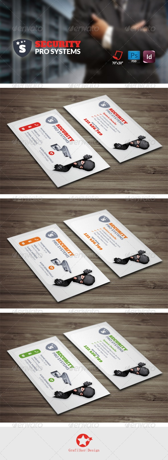 Security Systems Business Card Templates - Business Cards Print Templates