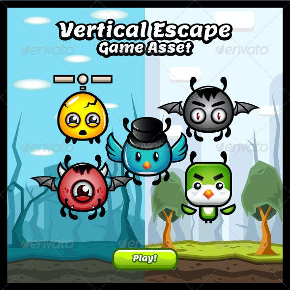Vertical Escape Game Asset