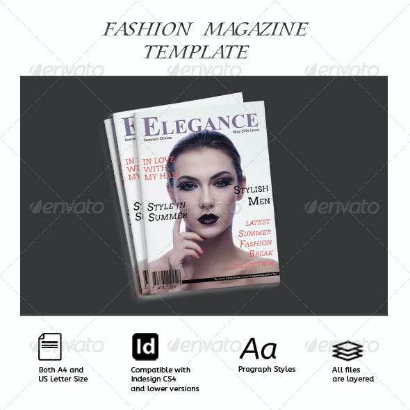 40 Pages - Fashion Magazine Template InDesign vol.01