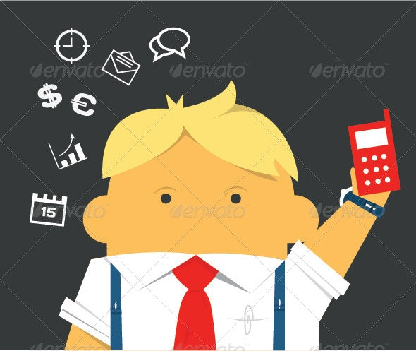 Businessman with a Phone  - People Characters