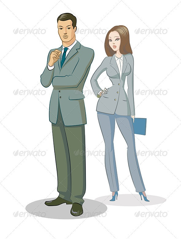 Businessman Group Standing - People Characters
