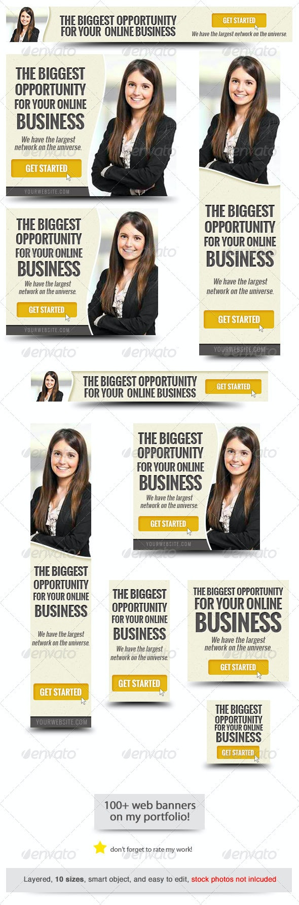 Corporate Web Banner Design Template 50 - Banners & Ads Web Elements