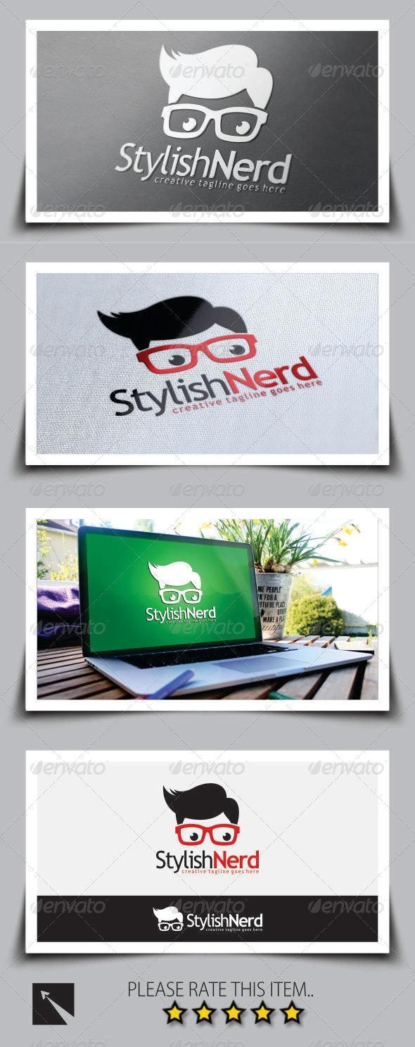 Stylish Nerd Logo Template - Humans Logo Templates
