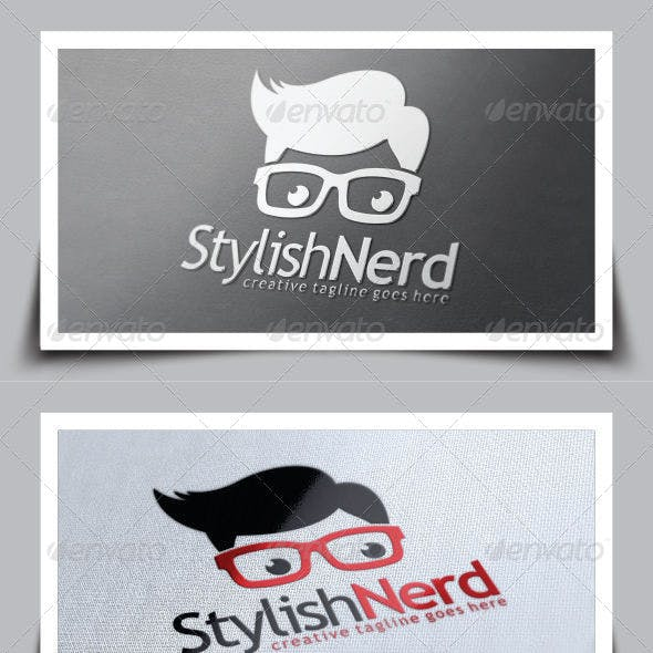 Stylish Nerd Logo Template