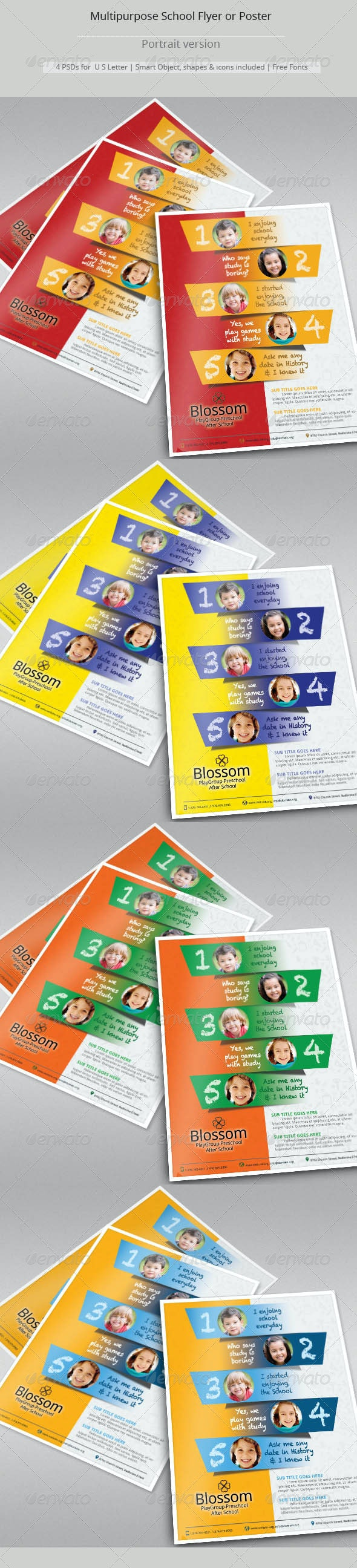 Multipurpose School Flyer Templates - Corporate Flyers