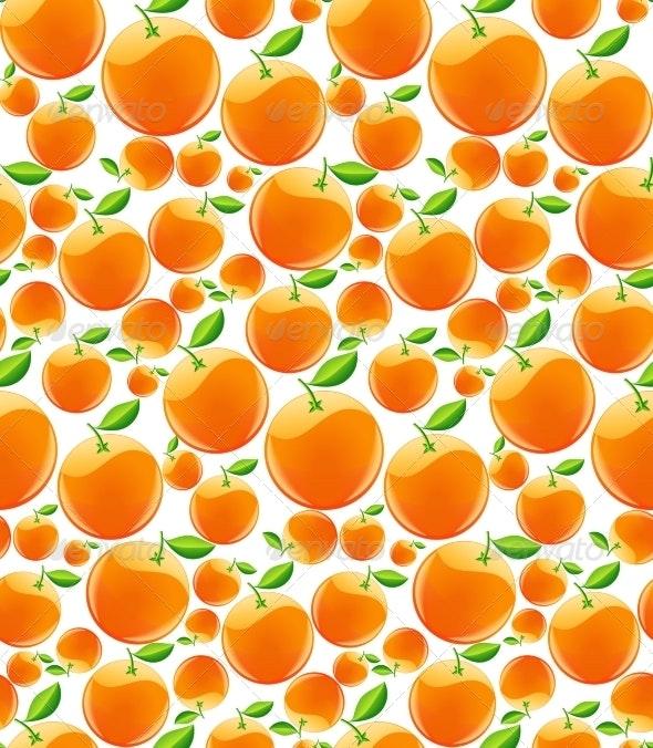Orange Background - Food Objects