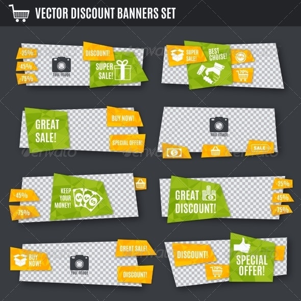Discount Banners Set - Retail Commercial / Shopping