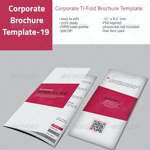Interior Ti-Fold Brochure Template VO-19