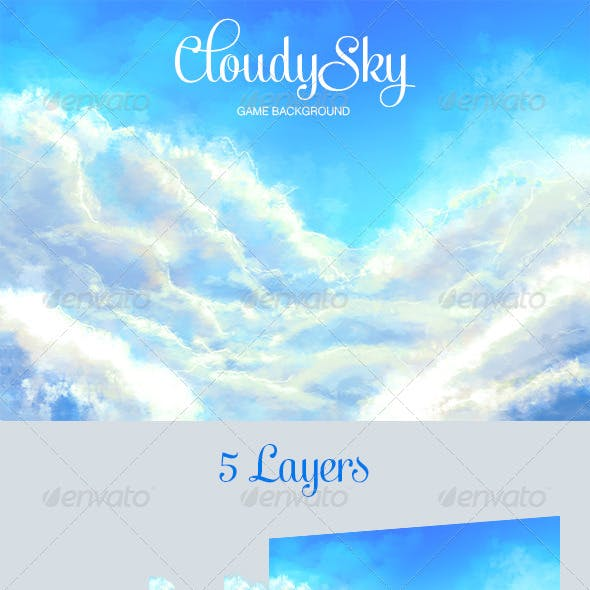 Cloudy Sky Game Background