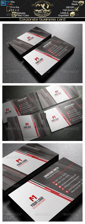 Corporate Business Card 44 - Corporate Business Cards