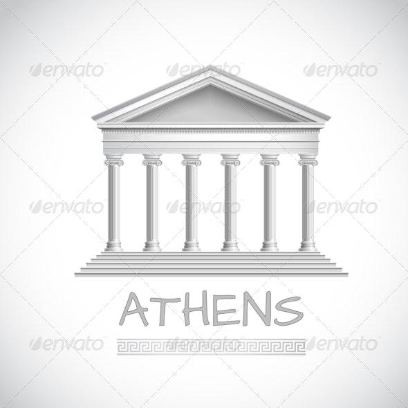 Athens Temple Emblem - Buildings Objects