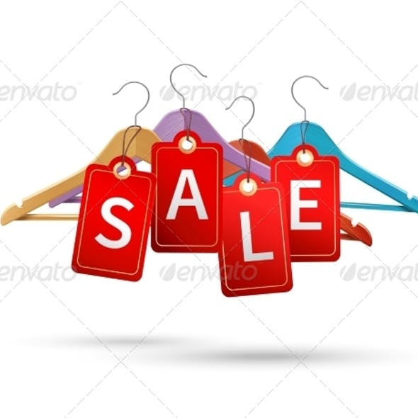 Clothes Hanger Sale Labels