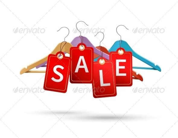 Clothes Hanger Sale Labels - Retail Commercial / Shopping