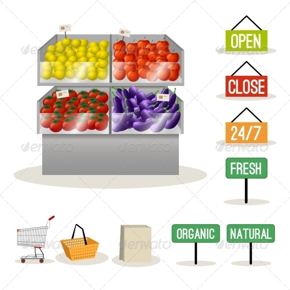 Supermarket Fruits and Vegetables - Retail Commercial / Shopping