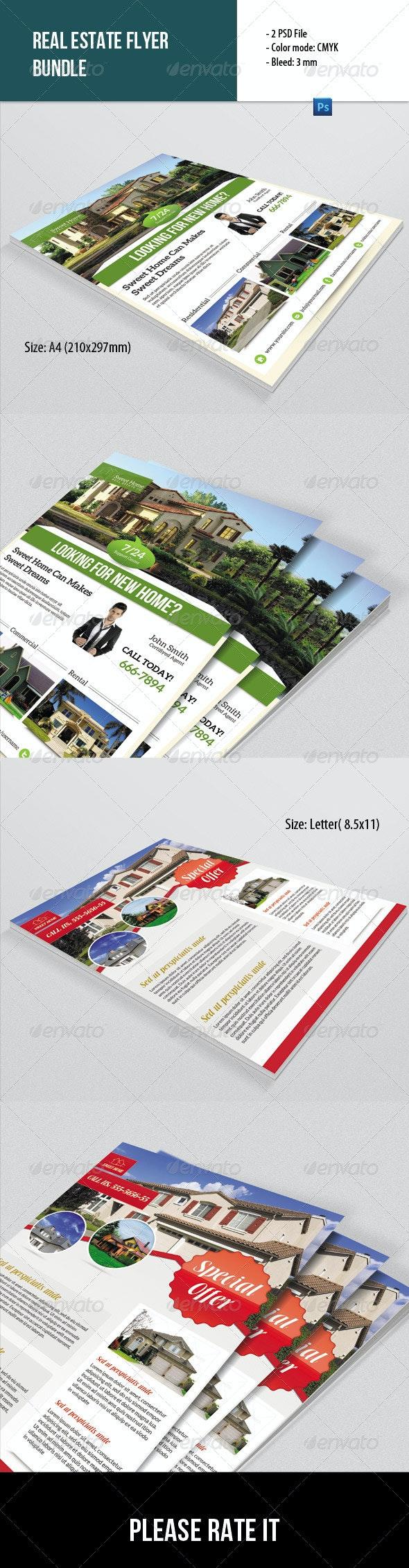 2 Real Estate Flyer Bundle - Corporate Flyers