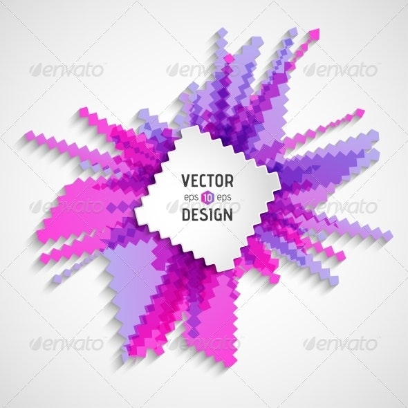 Abstract White Text Design Box on Zigzag Line Pattern - Backgrounds Business