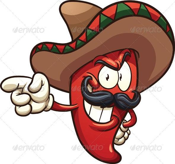 Mexican Pepper - Characters Vectors