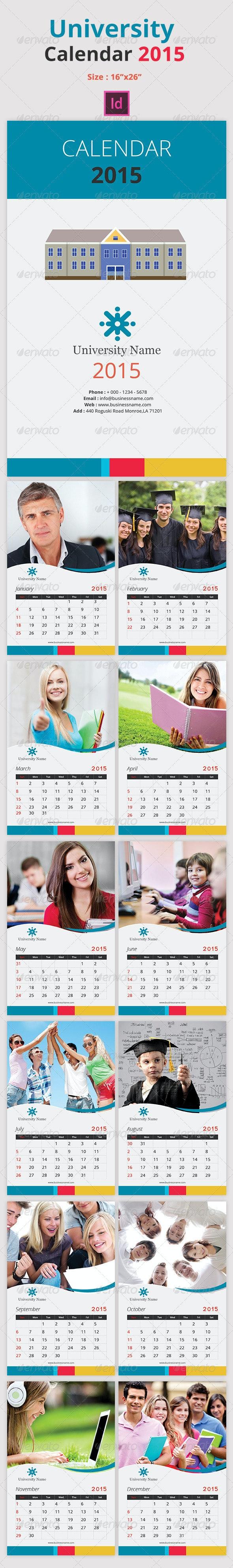 University Calendar 2015 - Calendars Stationery