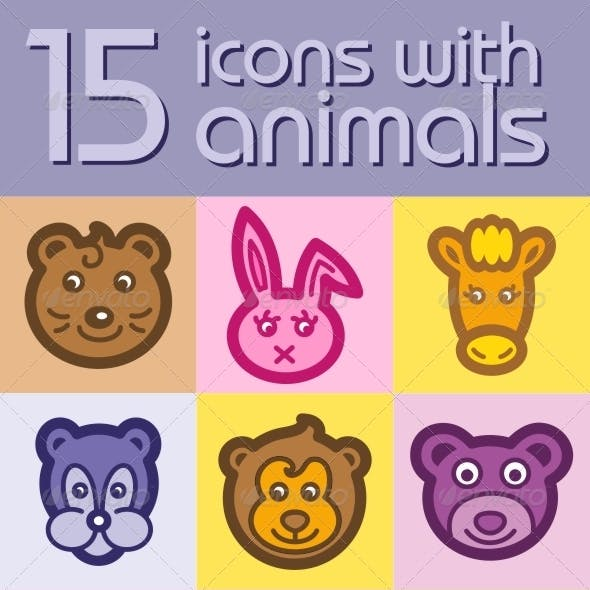 15 Icons With Animals