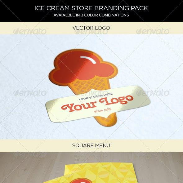 Ice-Cream Store Branding Pack