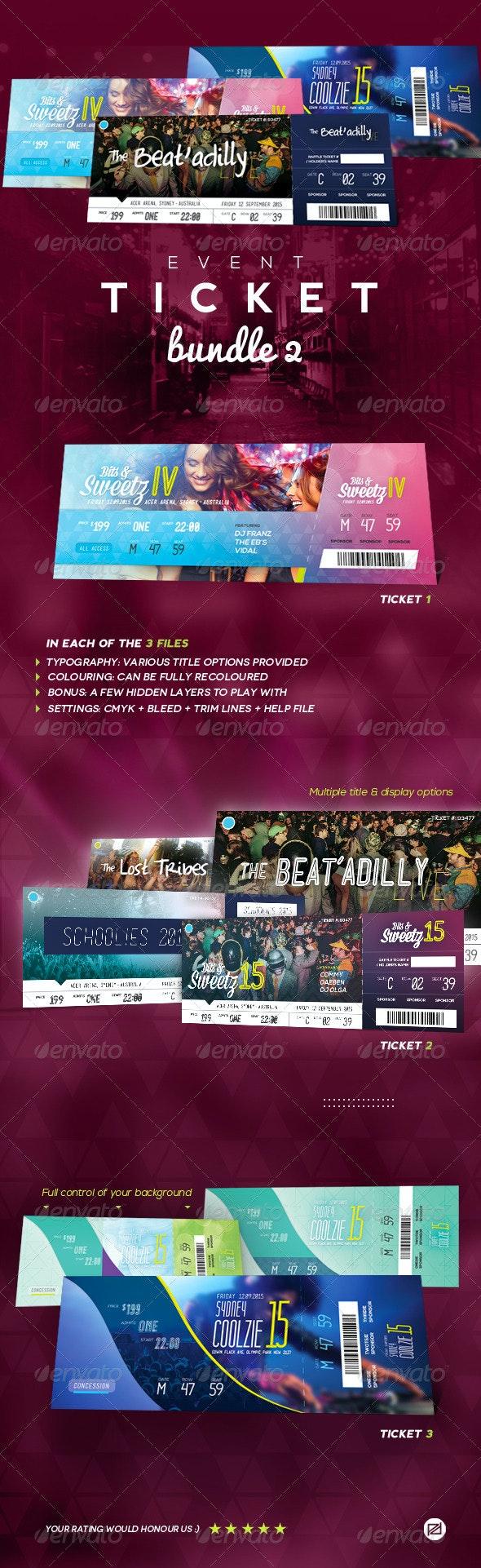 Event Tickets Bundle 2 - Miscellaneous Print Templates