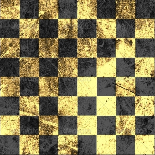 Vintage Crack Old Scratched Empty Chess Board - Backgrounds Decorative