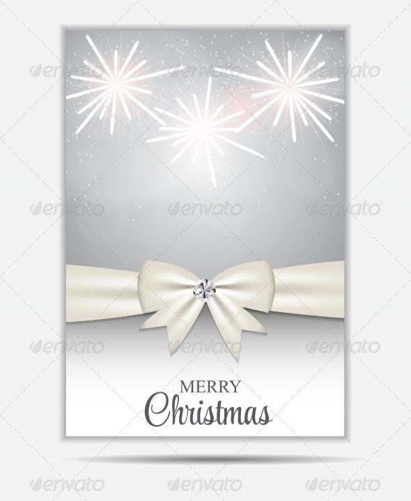 Christmas Website Banner and Card Background Vecto - Christmas Seasons/Holidays