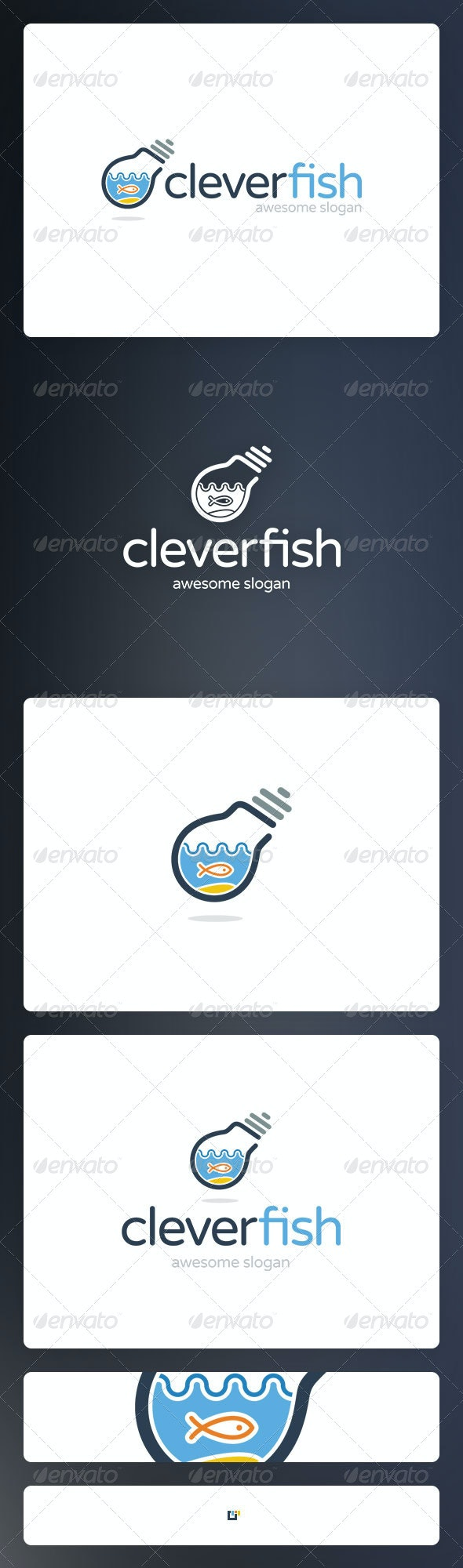 Cleverfish Logo Template - Vector Abstract