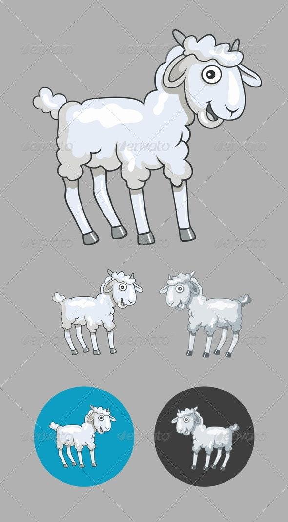 Little Sheep Cartoon - Animals Characters