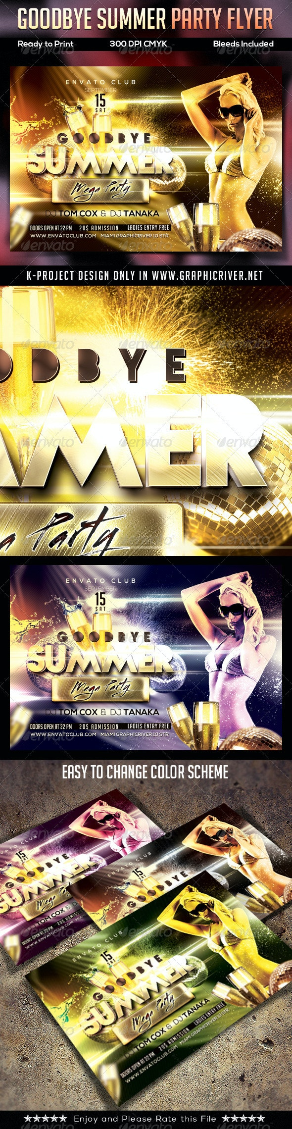 Goodbye Summer Party Flyer - Clubs & Parties Events