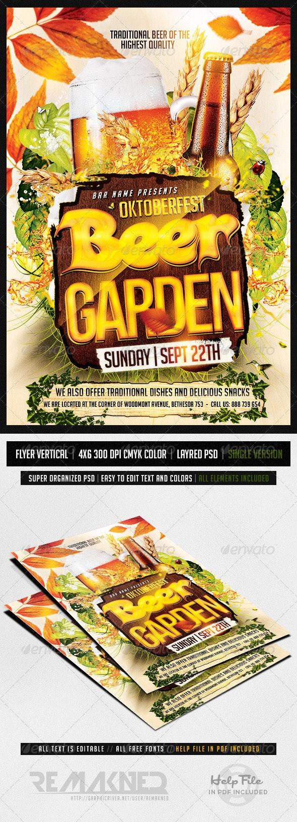 Oktoberfest Party   Flyer Template PSD - Flyers Print Templates