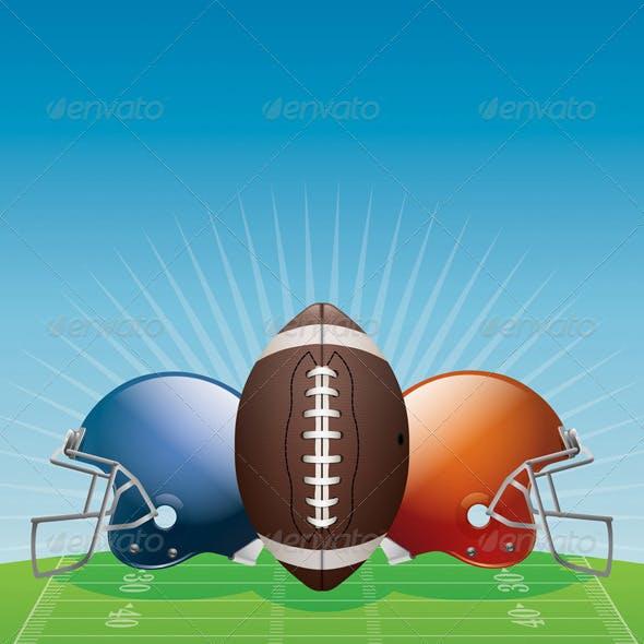 Vector American Football Background Illustration